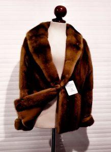 abrigo de piel pieleva